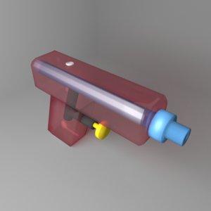 3D toy watergun 1 model