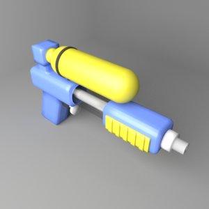 toy watergun 4 3D
