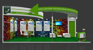 exhibition stand modeled 9x4 3D