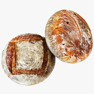3D bread 02 model