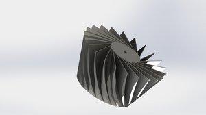 3D turbine propeller