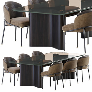 minotti lou dining table 3D model