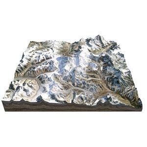 everest mountain resolution 8m model