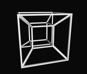 printed tesseract hypercube 3D model