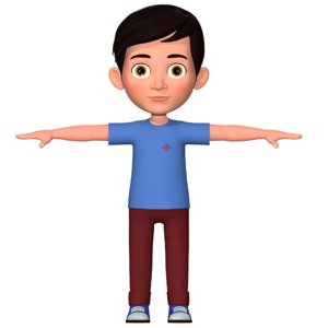 3D boy cartoon toon