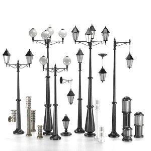 street lamp lantern 3D model