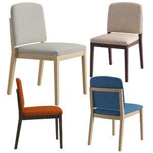 3D chair chelsea 01 model