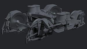 3D train bogie