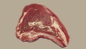 3D chop steak model