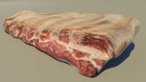 food meat pork 3D model