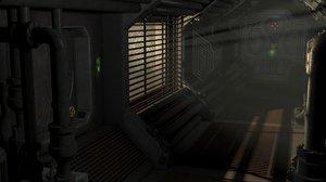 3D nostromo corridor