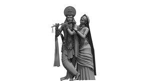 3D lord krishna model