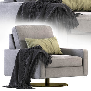 3D cor armchair conseta model