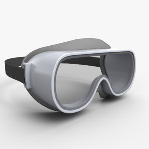 safety glasses gltf 3D
