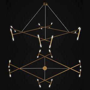 chandelier le diamant jonathan 3D model
