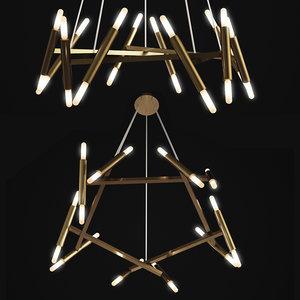 chandelier pentagone le petite model