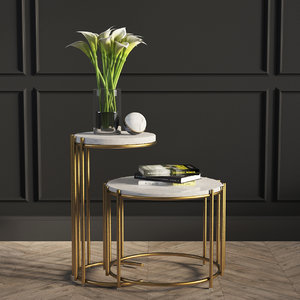3D model messina nesting tables west