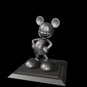 3D micky mouse sculpture model