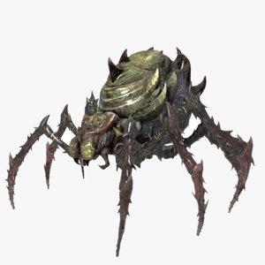 3D spider creature
