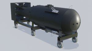 nuclear bomb little boy 3D model