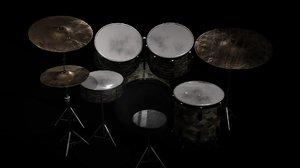 pbr drum kit model