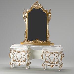3D photorealistic dresser mirror rokko