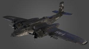 3D douglas b-26 invader airplane model