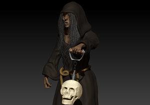 witch skull 3D model