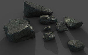 rocks outdoor forest model