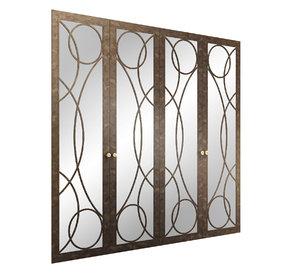 mirrored classic door wardrobe model