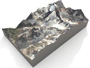 mount ushba 4710 meters 3D model
