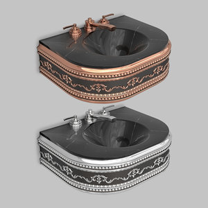 classic wash basin 3D model