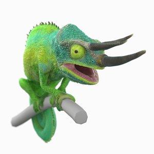 3D jackson s chameleon model