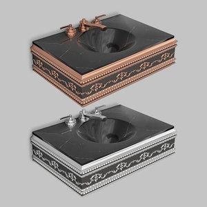 3D classic wash basin