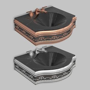 3D classic wash basin model