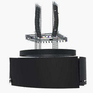 scoreboard jumbotron sport 3D model