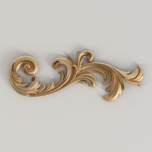 3D carved decor model