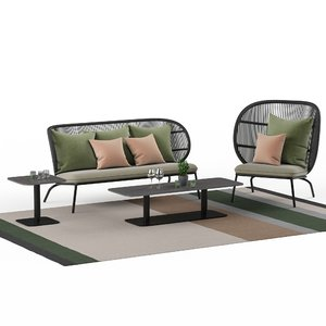 3D kodo lounge model