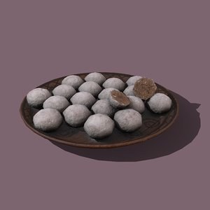 donut cookie balls 3D