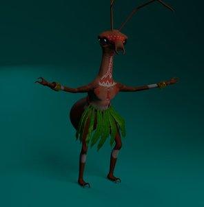 character monster ant model