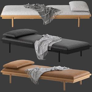 globewest tolv pensive day bed 3D model