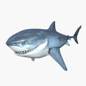 3D bruce shark model