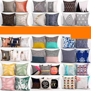 50 decorative set pillow 3D model