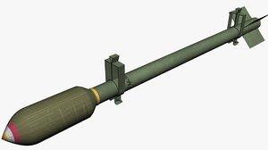 rocket 3 inch 3D model
