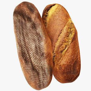 3D model bread 04