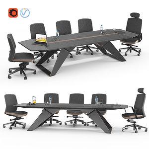 hiworc guillotine meeting table 3D model