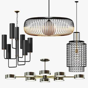 ceiling lights chandelier 3D model