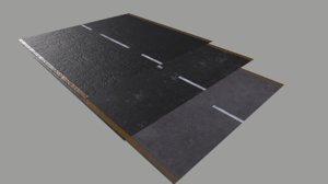 3D model asphalt pbr