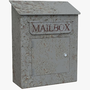 vintage mailbox 3D