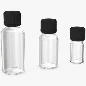 3D glass bottles cap